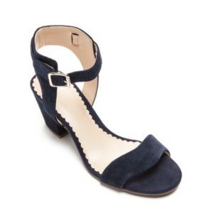 Crown & Ivy Navy Strap Heels